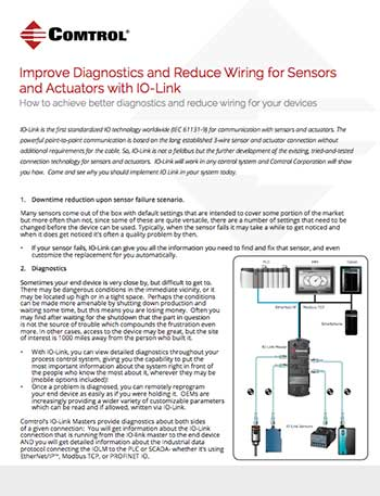 Comtrol IO Link Diagnostics Whitepaper
