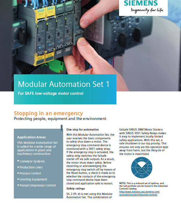 Siemens Modular Automation Set 1