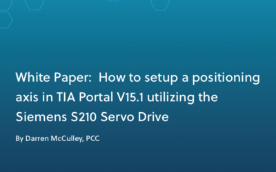 White Paper: How to Setup a Positioning Axis in TIA Portal V15